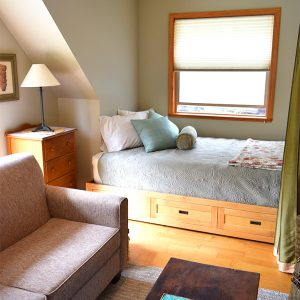 cedarside double bed by living room